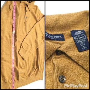 John Ashford Quarter button up Sweater, SZ.M